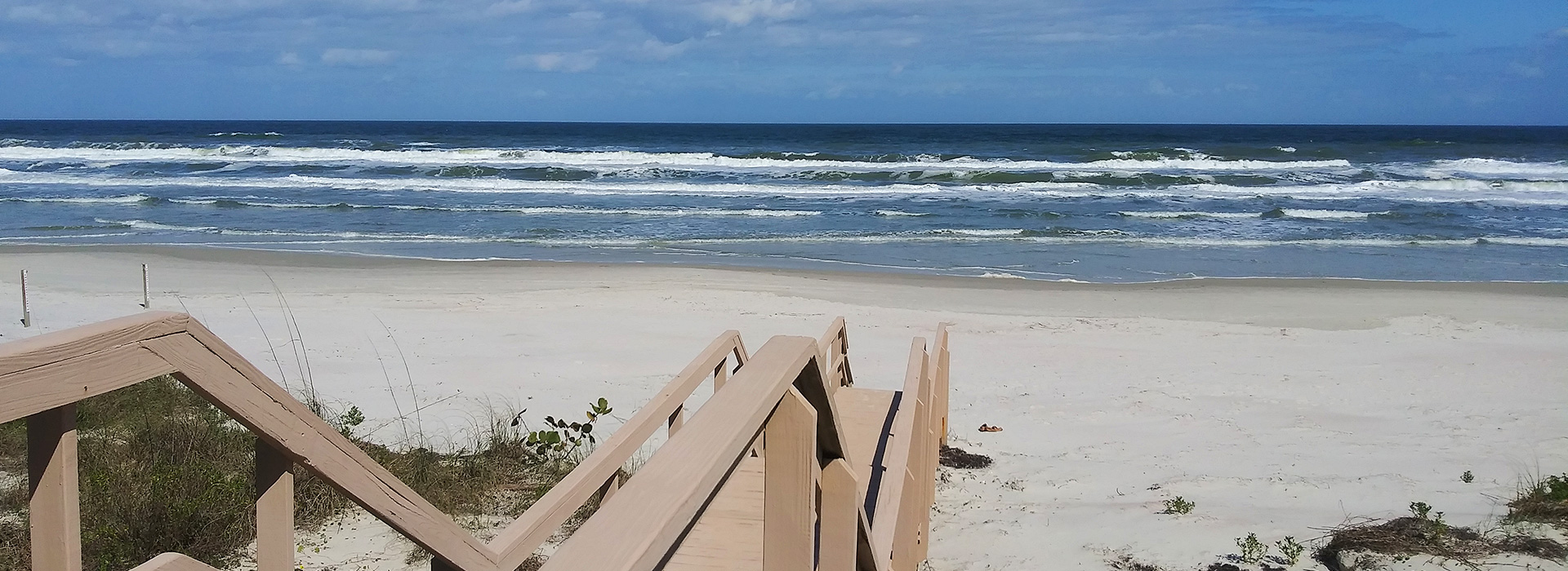 Boardwalk for accessing the beach
