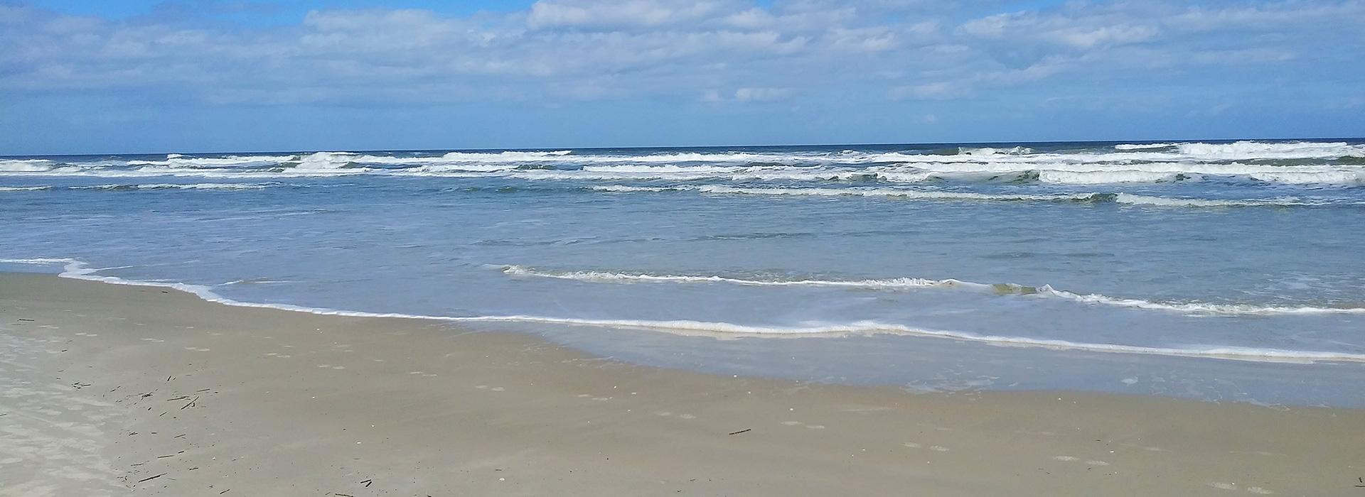 tranquil beach scene from Atlantica Condominium